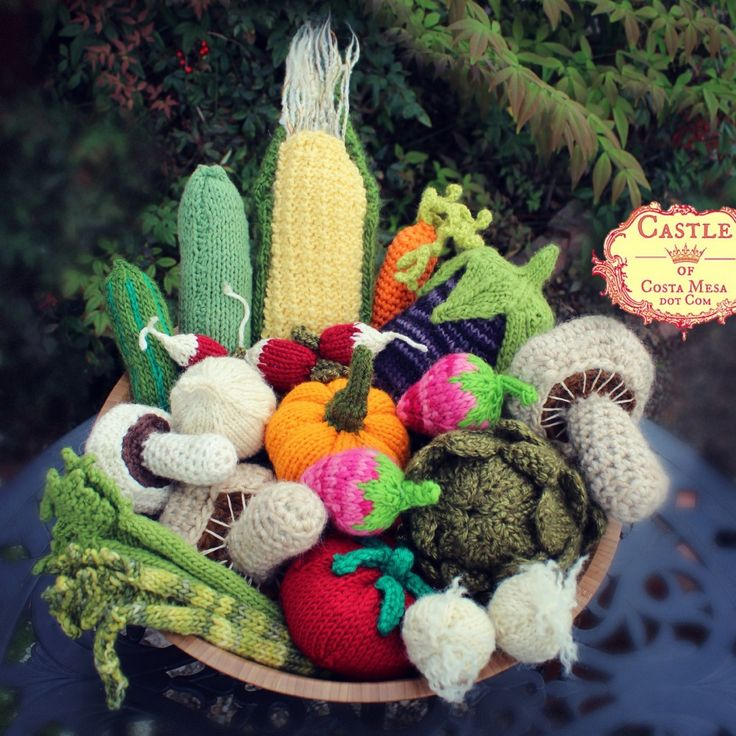 Crochet Patterns Vegetables Free : crochet veggie crocheted vegetables square cropped start crocheting ...