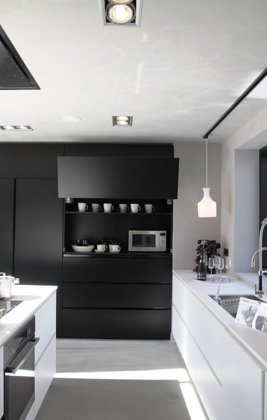 Black And White Kitchen, Kitchen Ideas And Inspiration, Luxury Kitchen