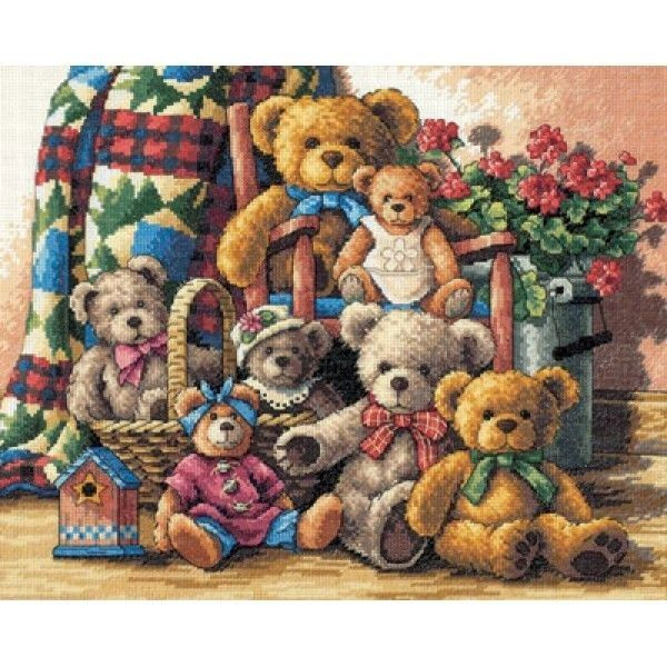 Набор для вышивания Dimensions 35115 Teddy Bear Gathering Коллекция Мишек Тедди