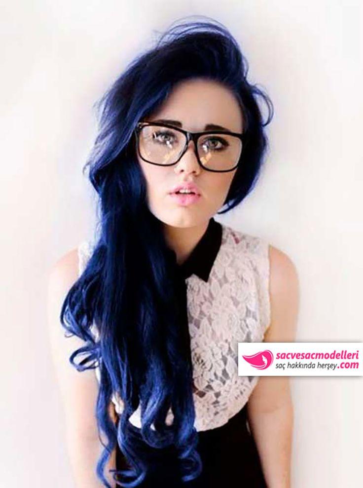 siyah mavi saç rengi