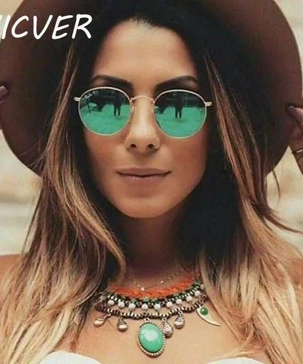 14ad7fa918be7 Os óculos de sol redondos verde estão super em alta! te deixa mais moderno (