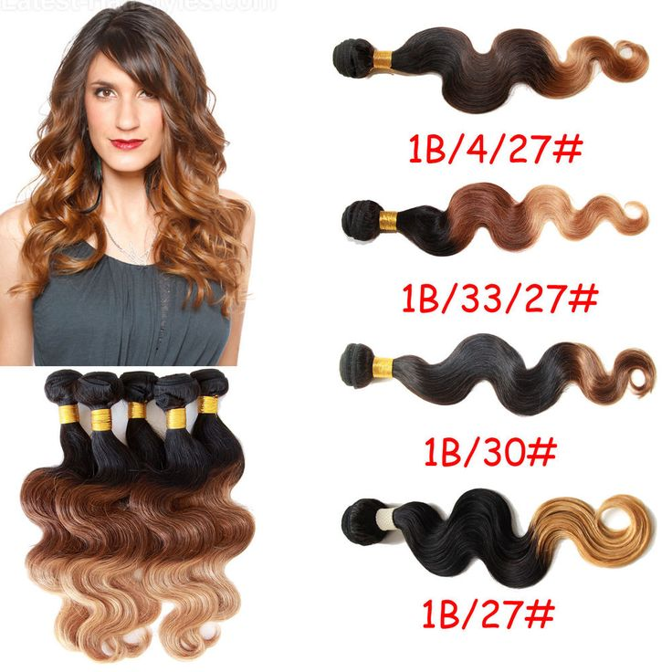 """Cheap ! 50g/pc Lot Ombre Style BRAZILIAN VIRGIN  HUMAN HAIR Extensions 12""""30"""" #wigiss #HairExtension"""