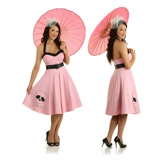 50s Rockabilly Pin Up Swing Dress Costume (1 of 2)
