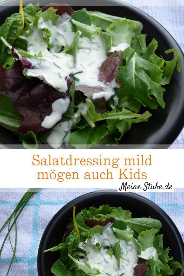 Gemischten Salat mit milden Salatdressing aus Schmand, den auch Kinder mögen. ( Salad Dressing )
