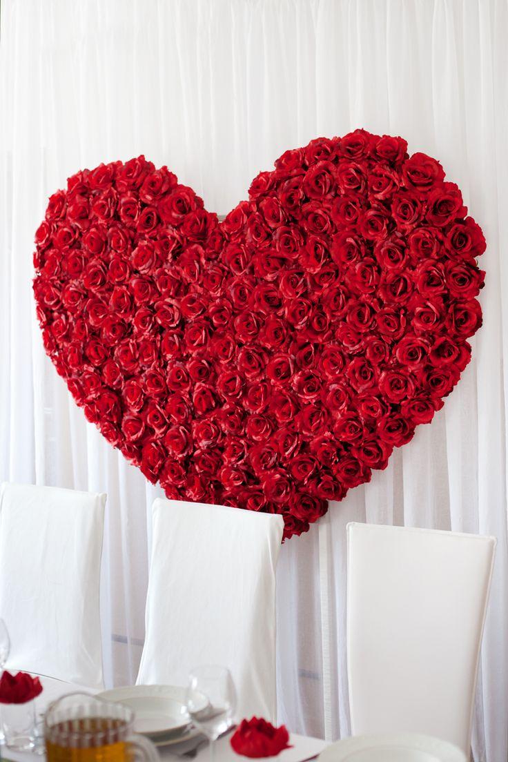 Dekoracja sali weselnej Red Roses