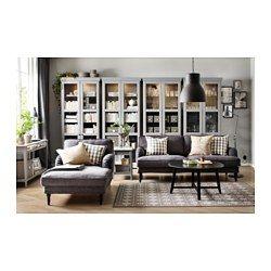 STOCKSUND Chaise longue, Nolhaga gris oscuro, negro/madera - Nolhaga gris oscuro - negro - IKEA 419