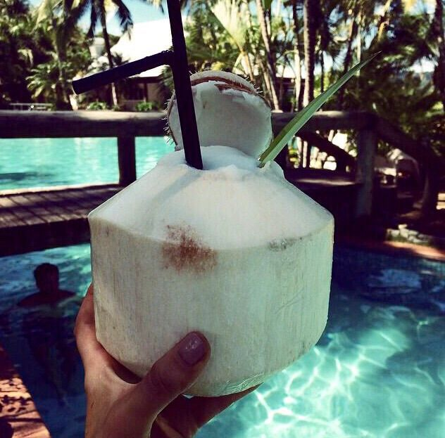 Sipping on da coconuts