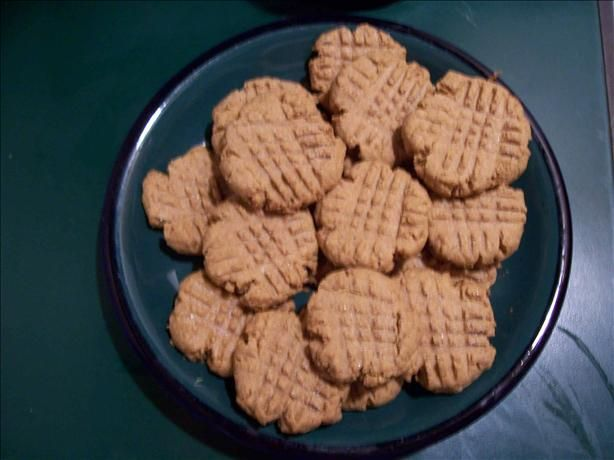 Low Carb Peanut Butter Cookies from Food.com: I adapted my favorite cookie recipe because I started the Atkins diet. They were pretty good. I liked the original recipe because it is so simple and easy and everyone loves them.