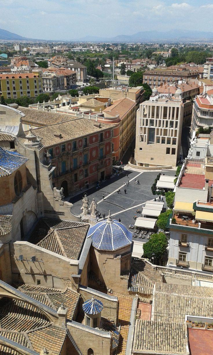 Vistas desde la Torre de la Catedral de Murcia.
