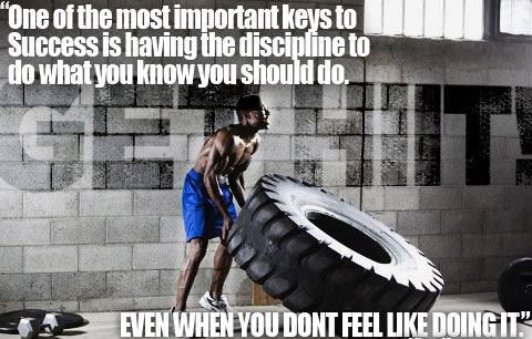 Motivational Fitness Quote. Me, this morning, even though I don't want to. GET after it!!