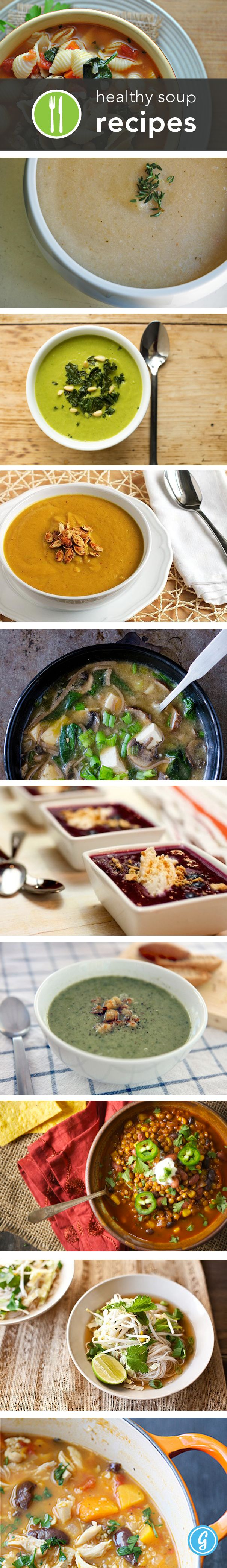Delicious #healthy soup recipes - perfect for this cold winter! via @Greatist #healthyeating #recipe