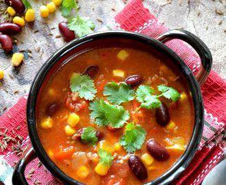 Zupa meksykańska z mieloną wołowiną