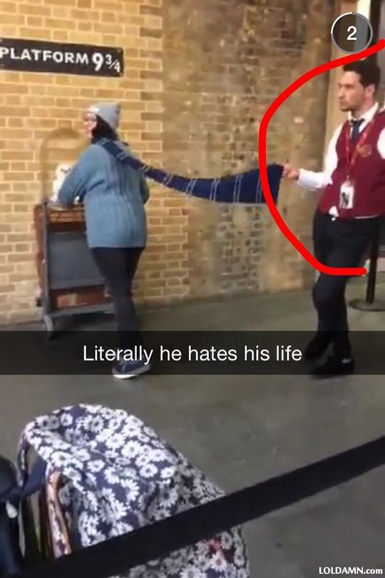 Work at Harry Potter theme park...