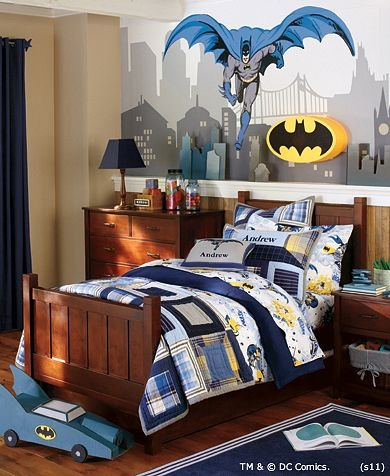 Batman™ Bedroom | Pottery Barn KidsBoys Bedrooms, Kids Room, Batman Room, Room Ideas, Pottery Barn, Boys Room, Batman Bedrooms, Bedrooms Ideas, Superhero
