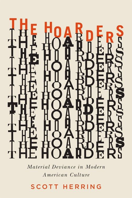 """#06 - 1/5 The Hoarders cover designed by David Drummond. The """"stacks"""" of type…"""