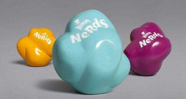 Willie Wonka's Nerds Candy Packaging