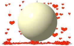 Ballon explosif garni confettis ivoire