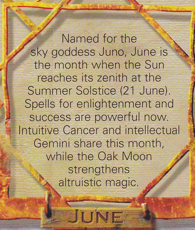 Magick Spells:  #Correspondences ~ June.