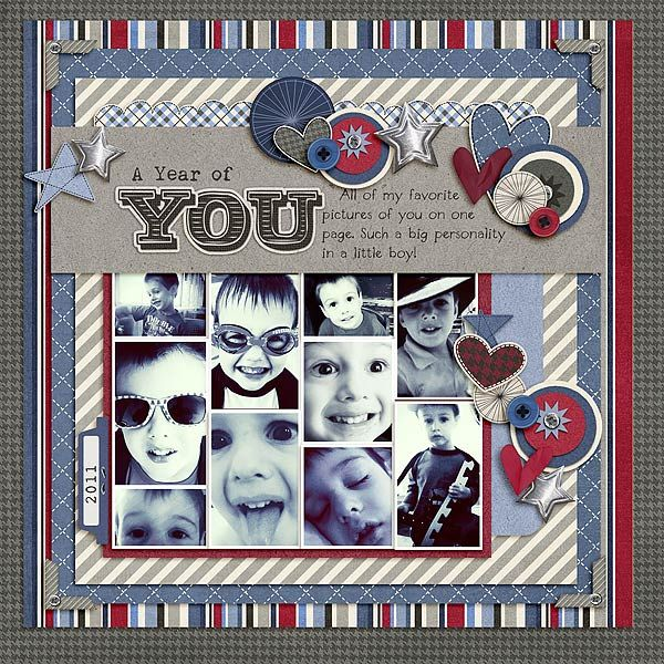 Love this multiple picture scrapbook layout. ⊱✿-✿⊰ Follow the Scrapbook Pages board visit GrannyEnchanted.Com for thousands of digital scrapbook freebies. ⊱✿-✿⊰