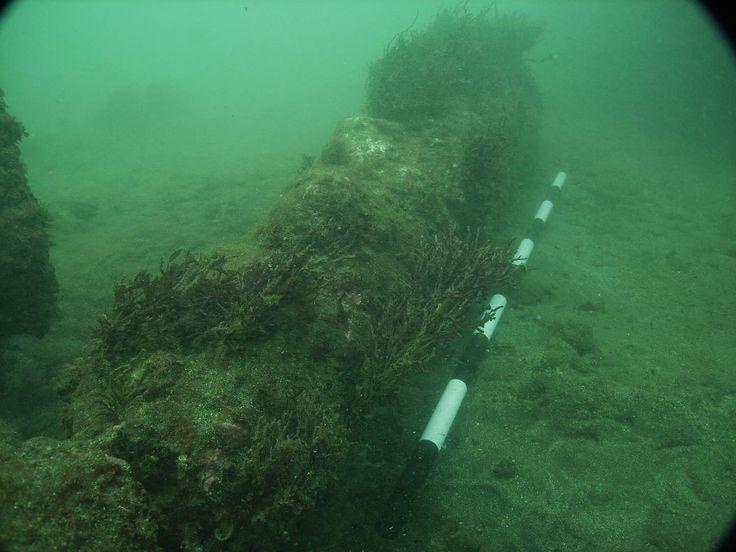 buques perdidos del capitán Morgan- Cañones: Centro de Estudios Arqueológicos: Universidad Estatal de Texas