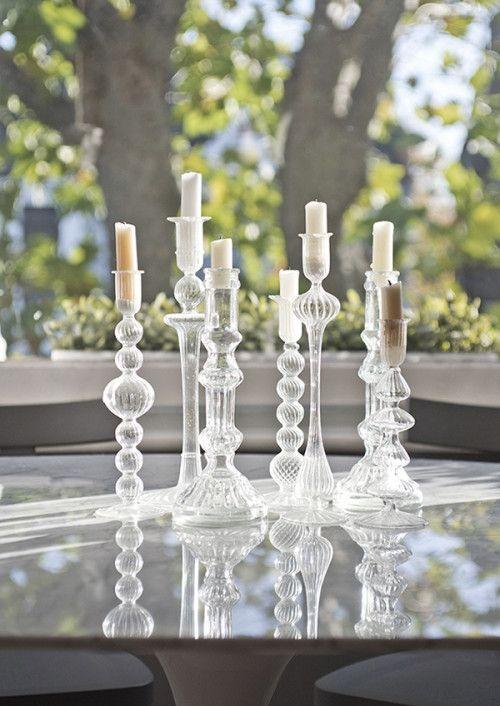prettyAssorted Glasses, 7Milli Glasses, Glasses Candlesticks, Candlesticks Holders, Crystals Candlesticks, Candlesticks Arrangements, Candles Holders, Candles Sticks, Glass Candlesticks