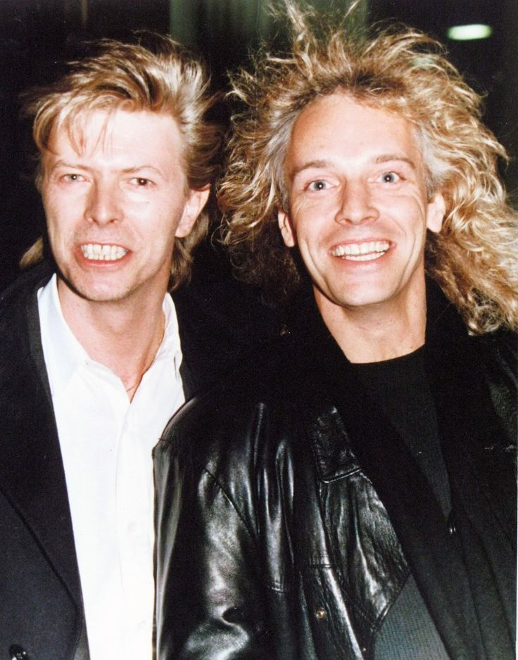 David Bowie and Peter Frampton (circa 1987)