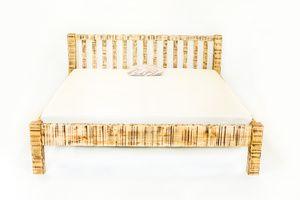Manželská postel - smrkové dřevo