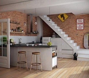Kitchen Design Under Stairs 175 best stairs images on pinterest | stairs, home and architecture