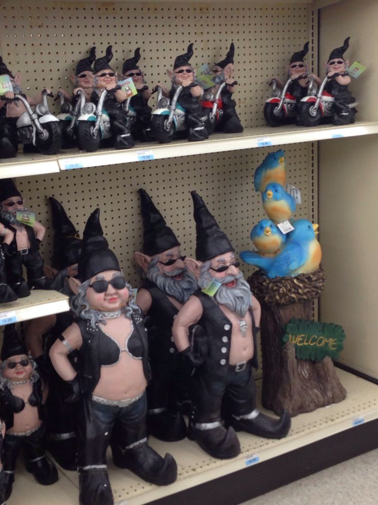 Gnome In Garden: 21 Best Biker Gnomes Images On Pinterest