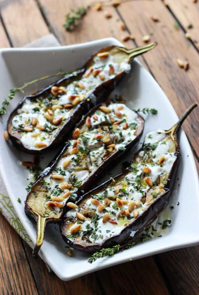 Little Broken | Roasted Eggplant with Buttermilk Sauce, Mint, Basil ...