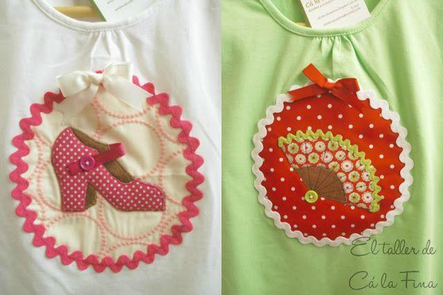 Camisetas para niñas muy flamencas...