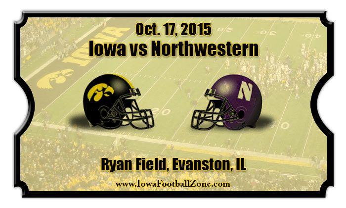 Iowa Hawkeyes vs Northwestern Wildcats Football Tickets | Oct. 17 ...