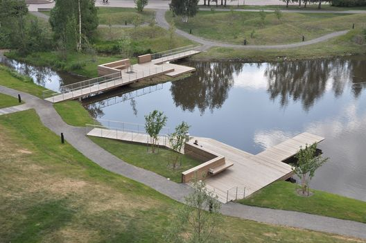 Umeå Campus Park in Umeå (Sweden). By Thorbjörn Andersson + Sweco Architects.