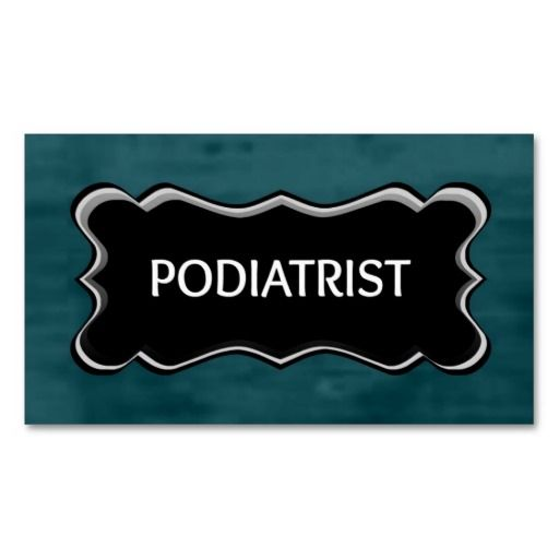206 best podiatrist business cards images on pinterest business physical therapist elegant name plate business card template wajeb Image collections