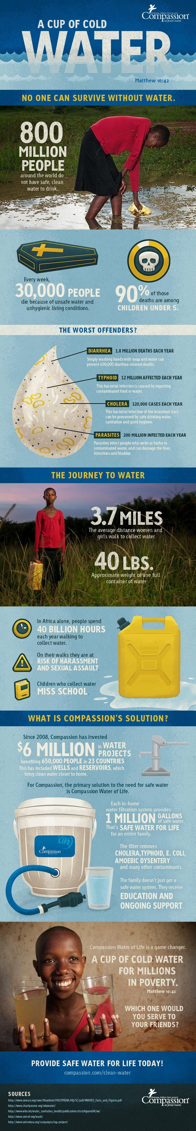 A Cup of Cold Water: No One Can Survive Without Water