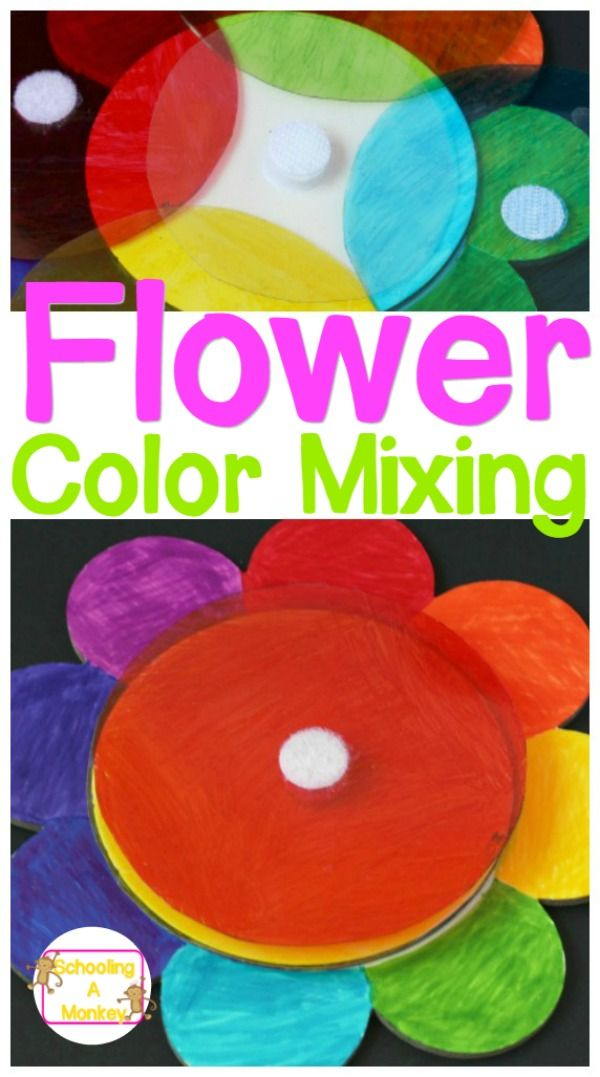 preschool color mixing rainbow flower activity perfect for busy bags