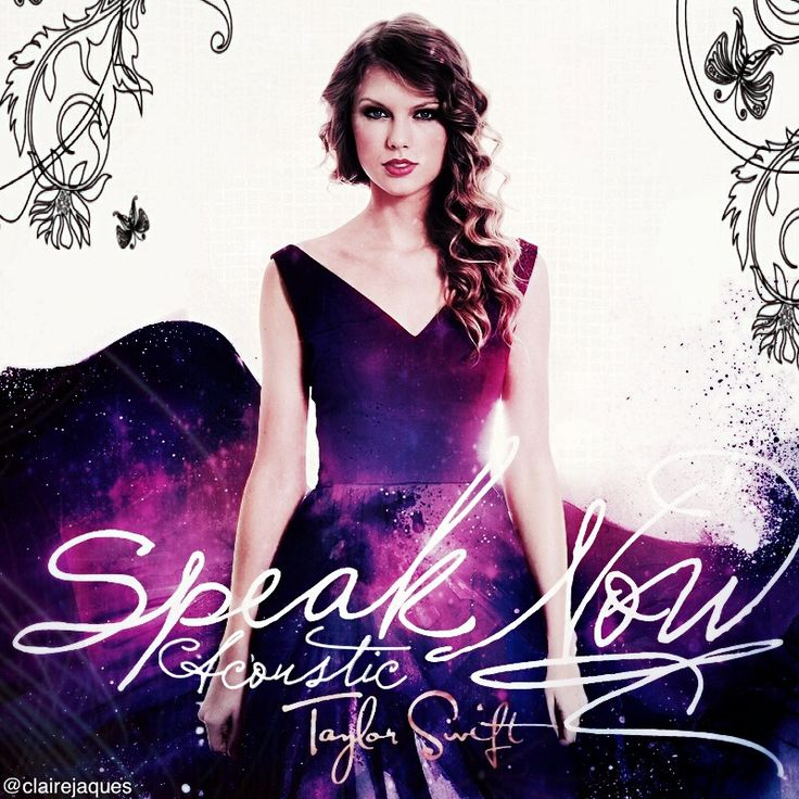 Taylor Swift Speak Now Acoustic Album Cover Edit by Claire ...