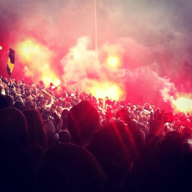 North stand, Råsunda. Stockholm derby. AIK-DIF.