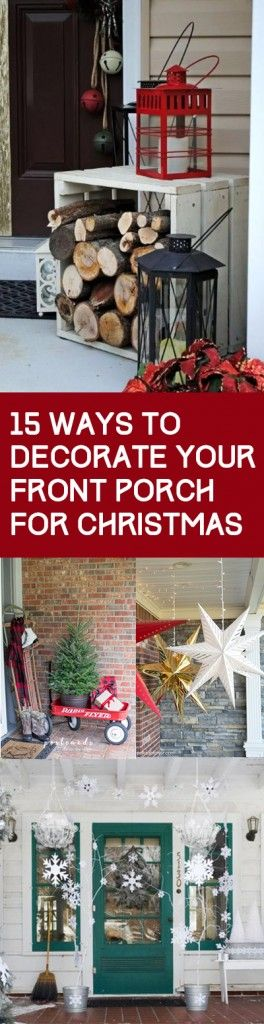 15 Ways To Decorate Your Christmas Front Porch