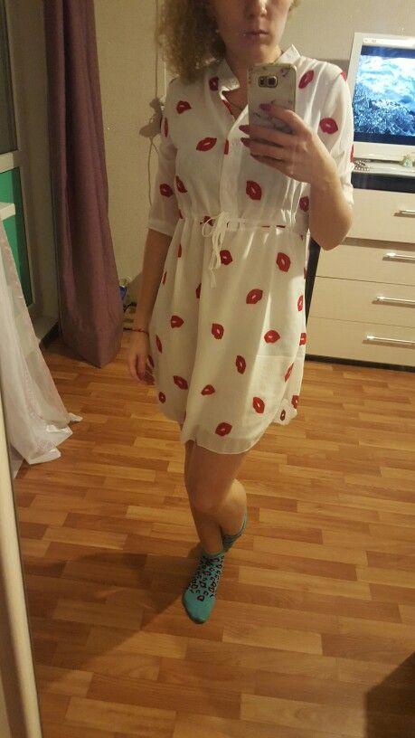 Выстроились шифоновое femininos красные vestidos губы пояса воротник милые стенд печати | freee.ru алиэкспресс отзывы о товарах