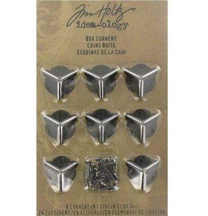 Esquinas metálicas para cajas Tim Holtz  Descripción:  Esquineras para cajas de metal envejecido, de la marca Tim Holtz,  consiga un buen remate en sus proyectos de scrapbook y manualidades.