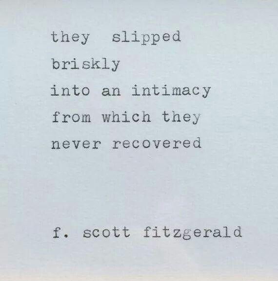 Slipped briskly into intimacy