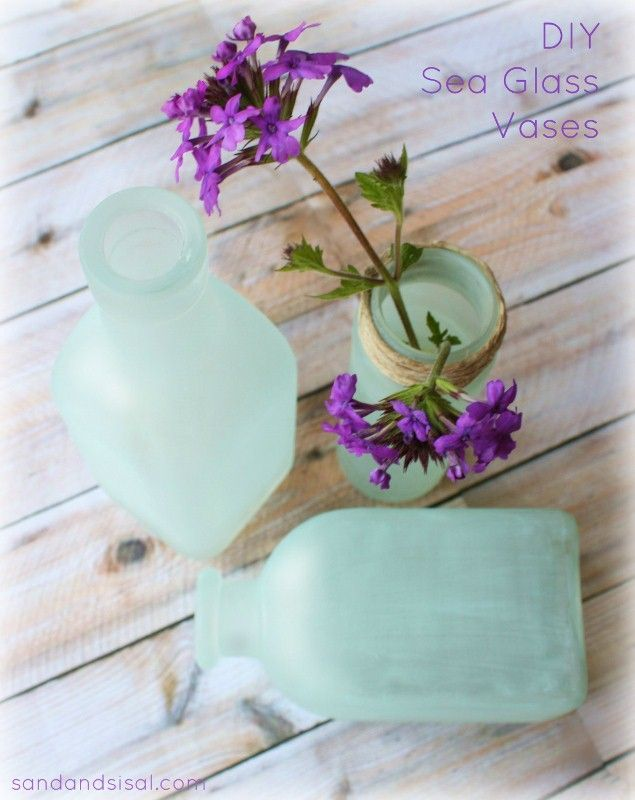 "DIY ""Sea Glass"" Vases"
