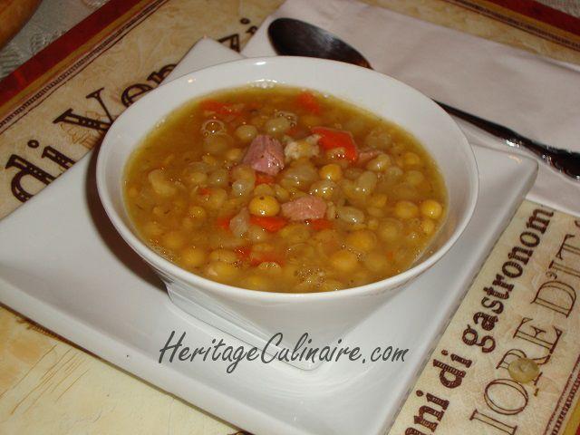 Voici la recette pour réussir la soupe aux pois pareille comme celle de mon père qui la faisait avec amour et perfection.