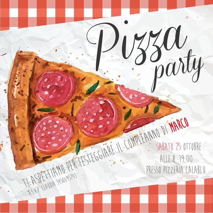 Invito Pizza Party