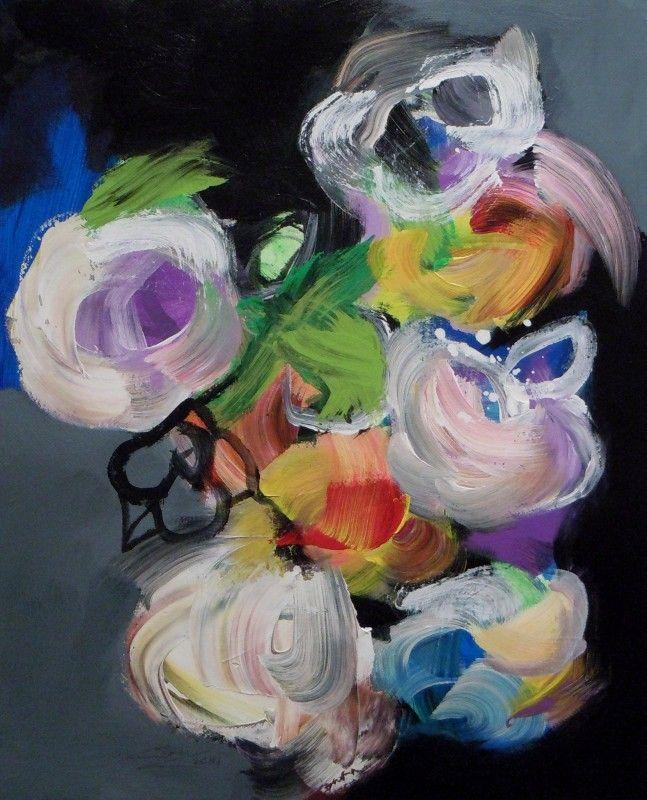 Floralies - acrylique sur toile (75x60cm) 2014