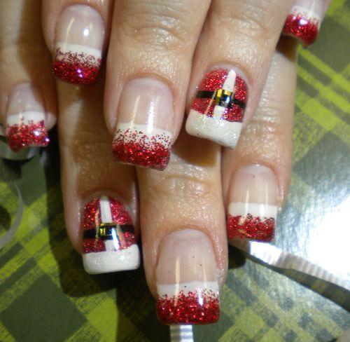 How cute!: Nailart, Makeup, Christmas Nails Art, Nails Ideas, Christmas Nail Art, Santa Nails, Nails Art Design, Holidays Nails, Nails Designs