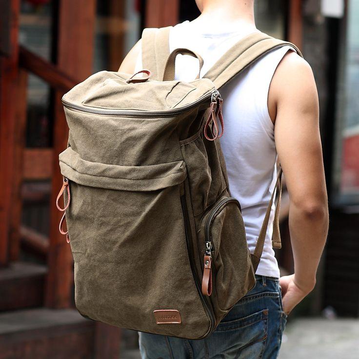 2017 nueva marca muzee mochila de gran capacidad de la vendimia hombres de equipaje masculina bolsa de lona bolsas de viaje duffle del recorrido del bolso de calidad superior
