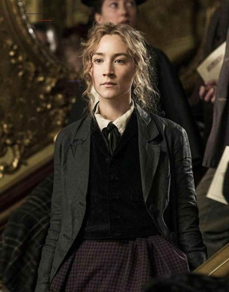 Little Women Jo March Black Coat Saoirse Ronan Cotton Fleece Coat I 2020 Kladstilar Klader Stilar
