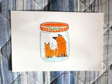 """-93: Colazione - marmellata di volpe """"fatta in tana"""" Breakfast - """"denmade"""" fox's jam  #fox #animal #love #volpi #jam #monday #lunedi"""